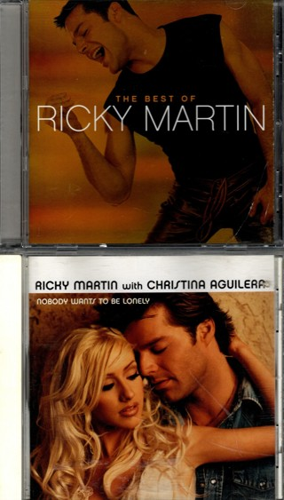 Pair of CDs by Ricky Martin - Best of and Nobody Wants to Be Lonely (CD Single)