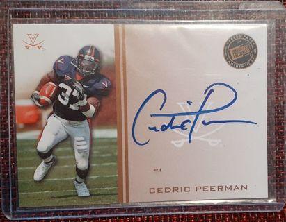Cedric Peerman Autograph Collector Card Press Pass 2009