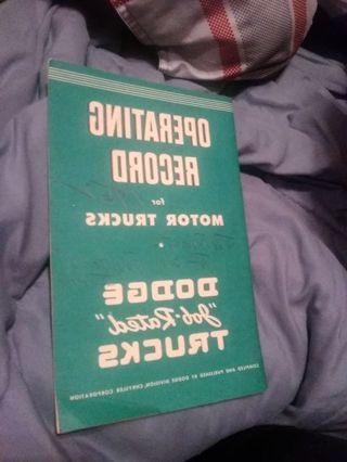 Dodge operating manual