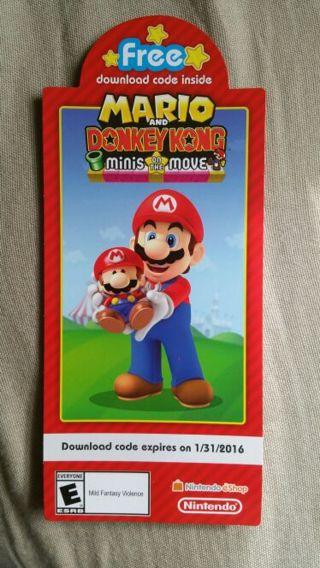 Nintendo game download codes