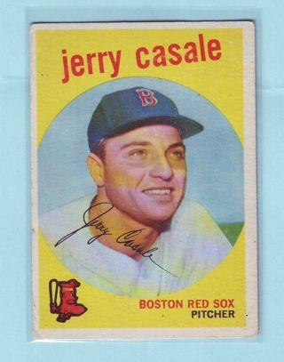 1959 Topps Jerry Cassale Baseball Card # 456 Red Sox