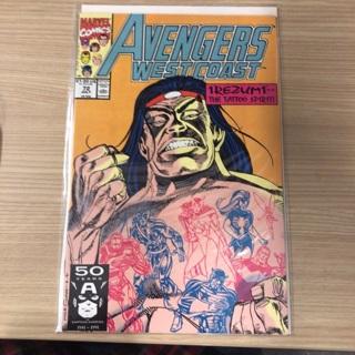 avengers west coast 72  marvel  1991