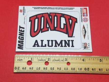 "The University of Nevada,Vegas (UNLV Alumni) Car Magnet 3""x3 1/4"" New"