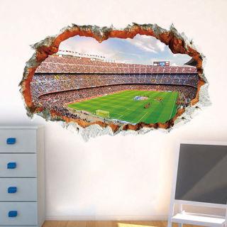 3D Football Wall Sticker Hole Waterproof