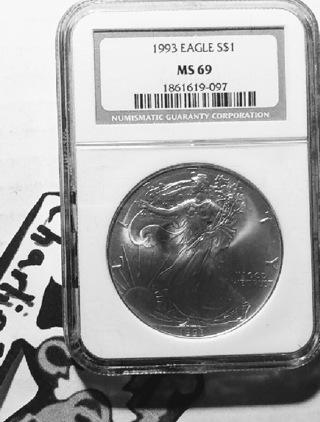 1993 Silver American Eagle (MS69)
