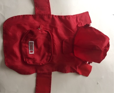 Tiny Red Rain Jacket XS - for Small Dog!! Free Shipping!!