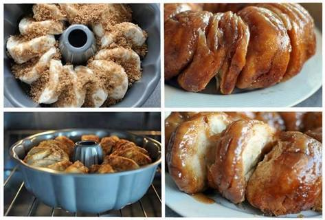 Quick & Easy Sticky Bun Breakfast Ring (Monkey Bread) Instructions & Ingredient List