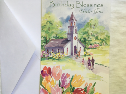 BIRTHDAY CARD WITH WORDS ON THE FRONT AND INSIDE VERSE AND ENVELOPE