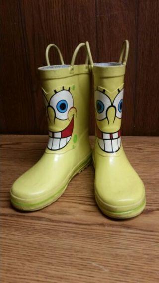 free waterproof spongebob winter snow boots boys clothing