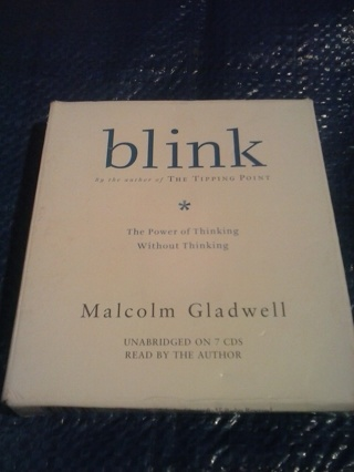 """Audiobook """"blink The Power of Thinking Without Thinking"""""""