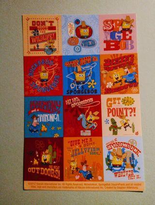 Spongebob Cowboy Stickers