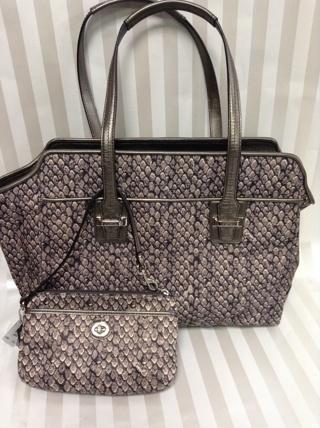 60635beb41ac Free  Coach Taylor Snakeskin Carryall Tote GIN FOR SET - Handbags ...