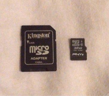 32gb Micro SD Card & Adapter