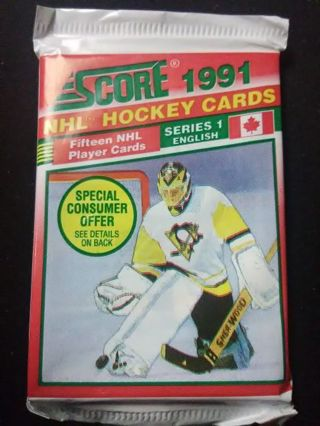 Sealed Pack - 1991 Score NHL Series 1: Canadian - English Hockey Cards