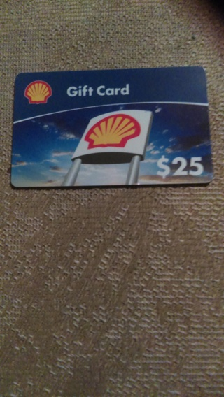 $25 shell gift card