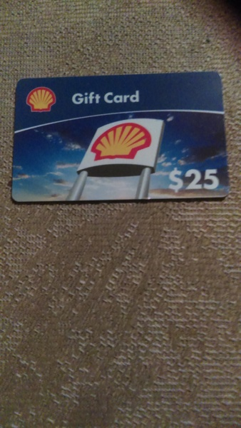 free 25 shell gift card gift cards auctions for free stuff. Black Bedroom Furniture Sets. Home Design Ideas