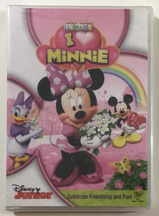 Disney Junior Mickey Mouse Clubhouse: I Love Minnie DVD Movie - Brand New Factory Sealed!
