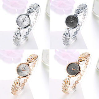 [GIN FOR FREE SHIPPING] Crystal Stainless Steel Dress Analog Quartz Wrist Watch