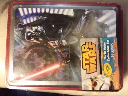 Star Wars Darth Vader Collectible Tin with 64 Crayons by Crayola