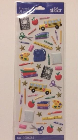 School sticker sheet