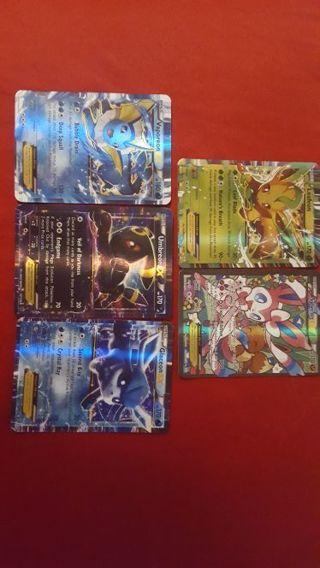 5 random Pokemon EX cards