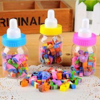 28 Piece/Set Cute Kids Gift School Supplies Stationery Milk Bottle Eraser