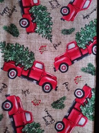 Red Truck Fat Quarter - Christmas