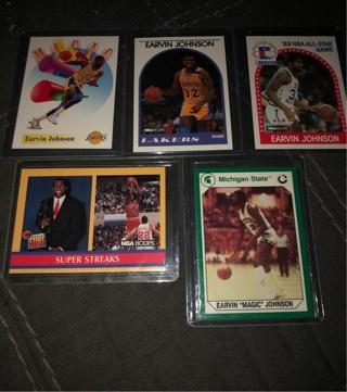 Magic Johnson 5 Card Lot