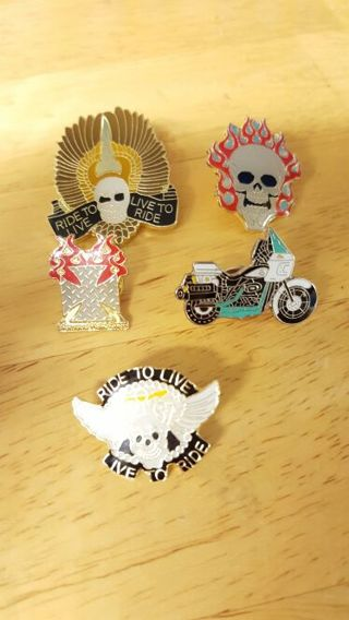 5 Collectable Biker Pins