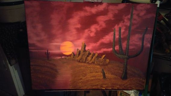 MY OWN OIL PAINTING