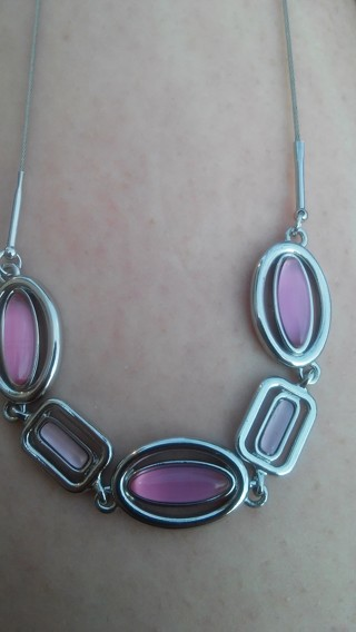 Reduced!! Lia Sophia PINK *Cats Eye* Necklace *NEW*