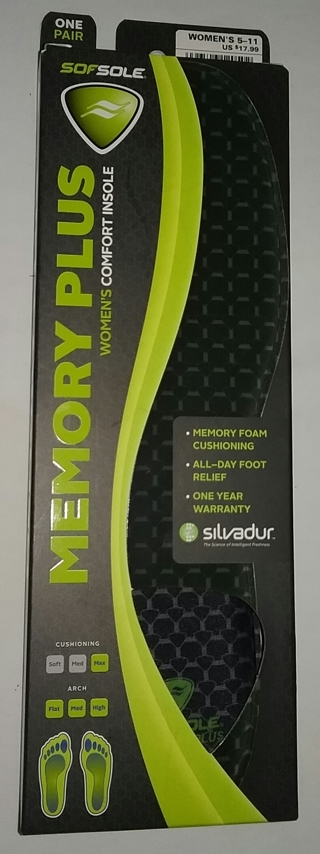 SOFSOLE Memory Plus Comfort Insoles