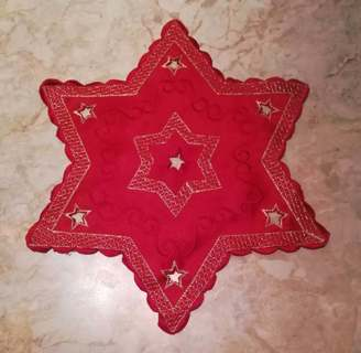 Red star doily Germany Christmas holiday