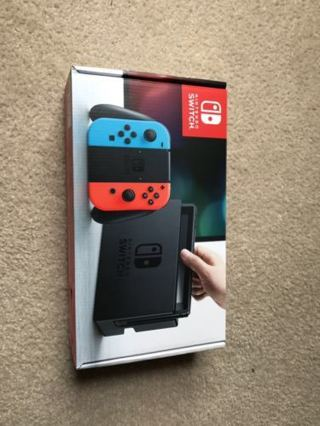 Nintendo Switch - 32GB Gray Console (with Neon Red/Neon Blue Joy-Con) BRAND NEW