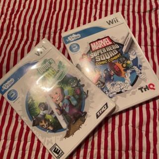 Wii UDRAW Games Dood's Big Adventure & Marvel Superhero Squad