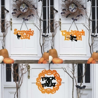 [GIN FOR FREE SHIPPING] The Witch Is In Halloween Hanging Sign Door Decor