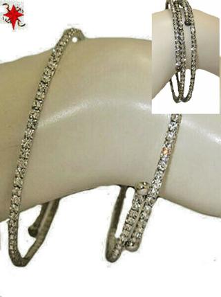 Bracelet cubic zirconia flex bangle fits all NWT