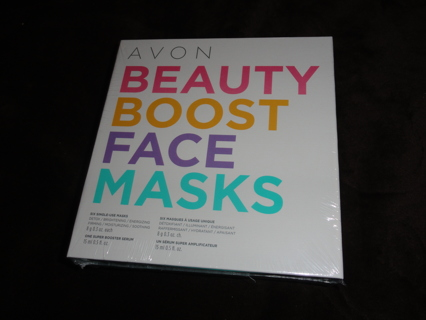 Avon Beauty Boost Face Masks and Super Booster Serum Gift Package Skin Care #6