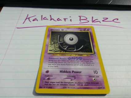 Pokemon Card Unown (U) Neo Discovery