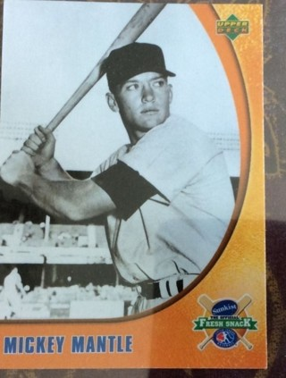 MICKEY MANTLE UPPER DECK 1 OF 5 - 2005 SUNKIST