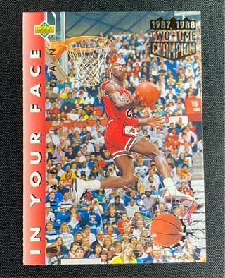 92-93 Upper Deck Michael Jordan - In Your Face #453