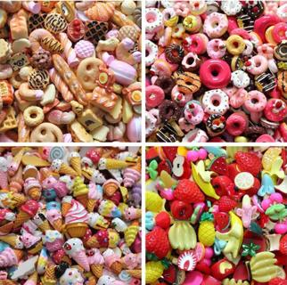Dolls 10pcs/lot Lovely Mini Play Toy Food Cake Biscuit Donuts Miniature P
