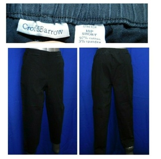 CROFT&BARROW Womens Black Stylish TRENDY Slacks PANTS Bottoms, Size 10 **Mint Cond**