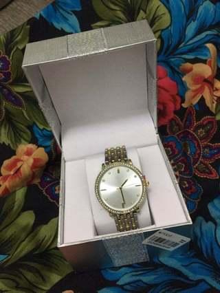 NEW Women's Macy's Watch Silver Gold FREE SHIPPING