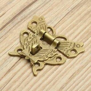 DIY Latch Box Vintage Jewelry Butterfly Buckle Retro Lock