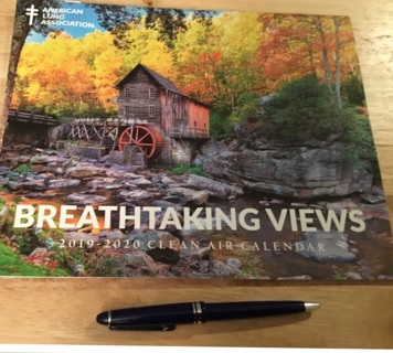 Breathtaking view calendar