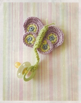 Free Butterflydragonfly Baby Pacifier Holder Crochet Pattern