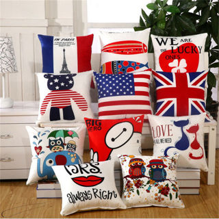 """15"""" Cartoon Digital Printed Polyester Pillow Case Cushion Cover Home Decorative"""