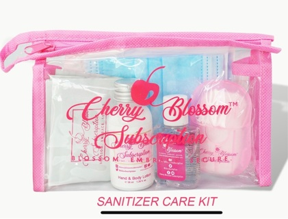 Hand sanitizer essential care kits  Kits de cuidado esencial de desinfectante de manos