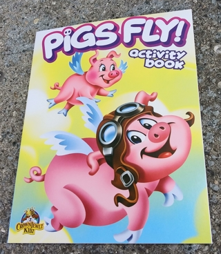 MEDIUM COLORING AND ACTIVITY BOOK PIGS FLY